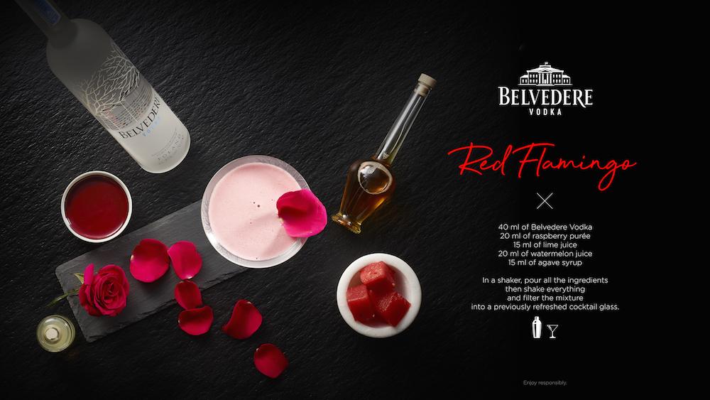 Summer Cocktails Belvedere Vodka Red Flamingo