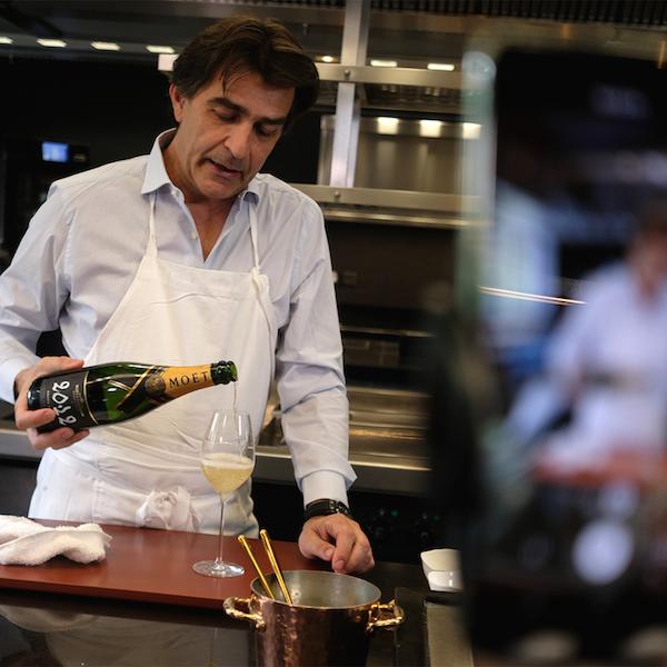 Moët & Chandon THE PERFECT MATCH Michelin Sterne-Chef Yannick Alleno