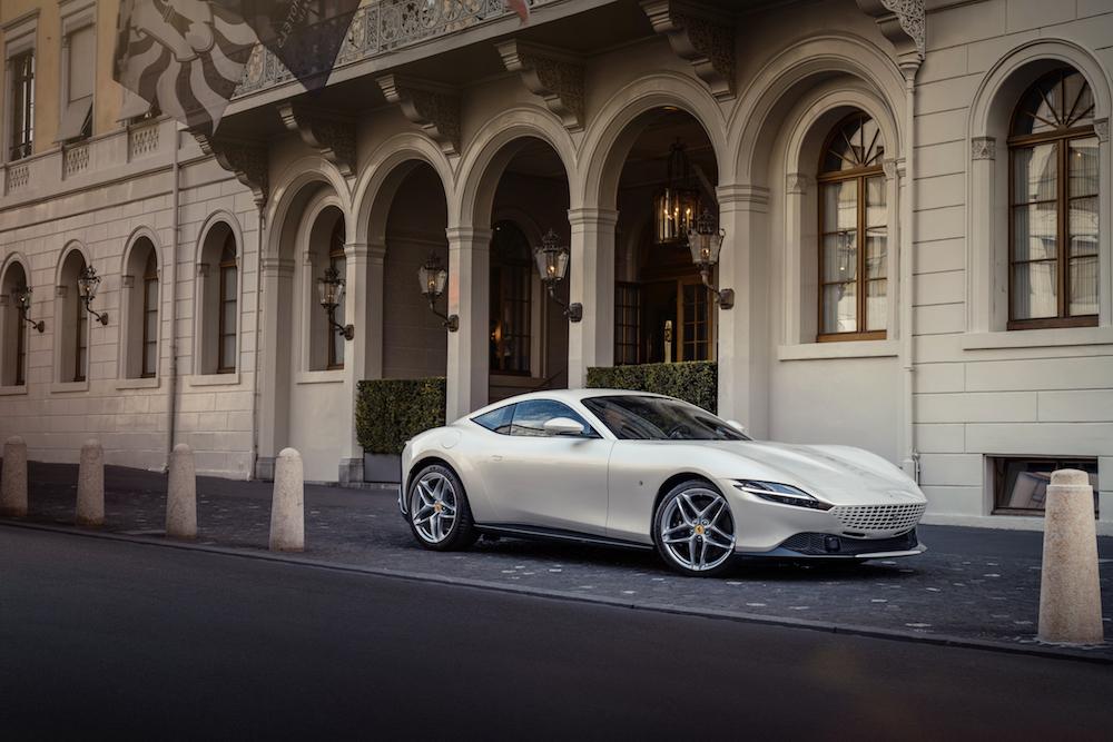 Ferrari Roma La Nuova Dolce Vita Cheval Blanc Grand Hotel Les Trois Rois Basel Switzerland Elegance