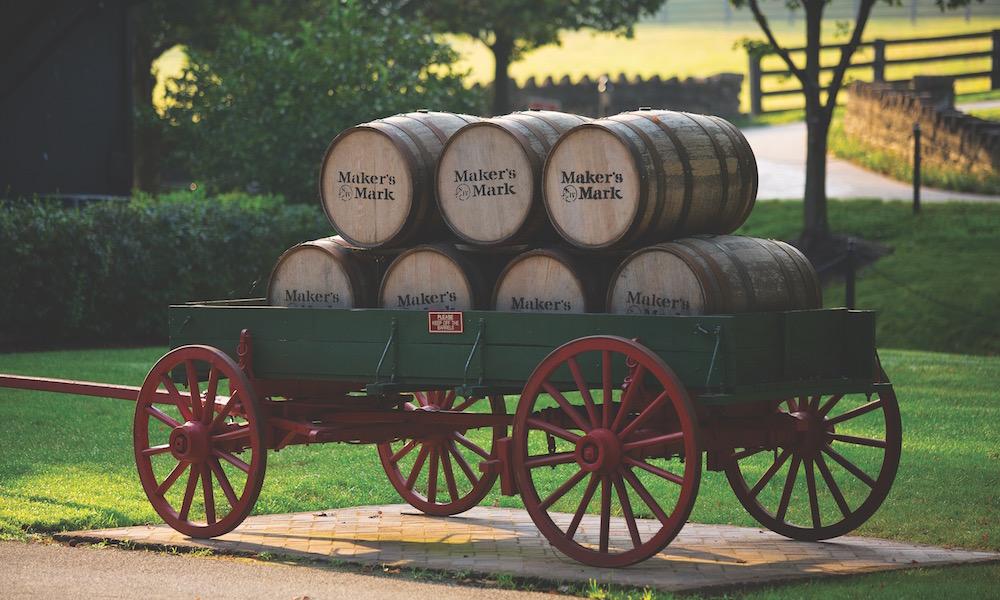 Maker's Mark Kentucky Bourbon Barrels In Wagon