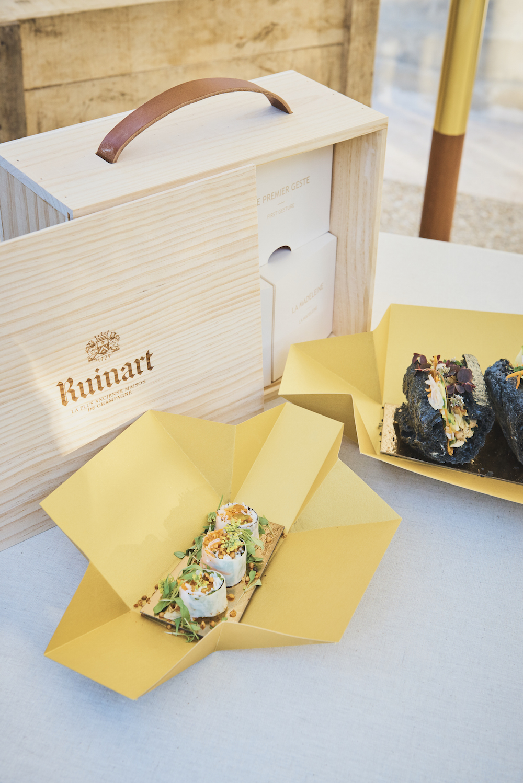 Ruinart Harvest Camp Chef Celine Pham Lunch Box