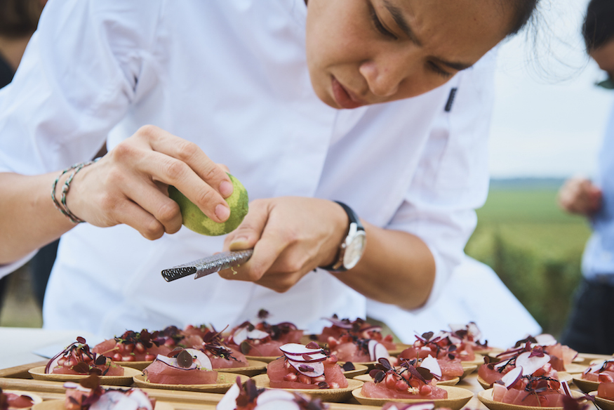 Ruinart Harvest Camp Chef Celine Pham Pickles