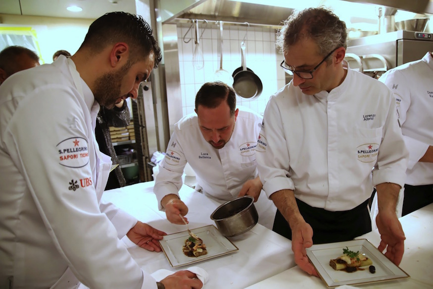 S.Pellegrino Sapori Ticino 2019 Four Seasons Geneva Les Bergues Chefs