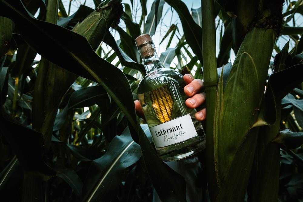 Entbrannt Mais Wodka Craft Spirit Austria Graz