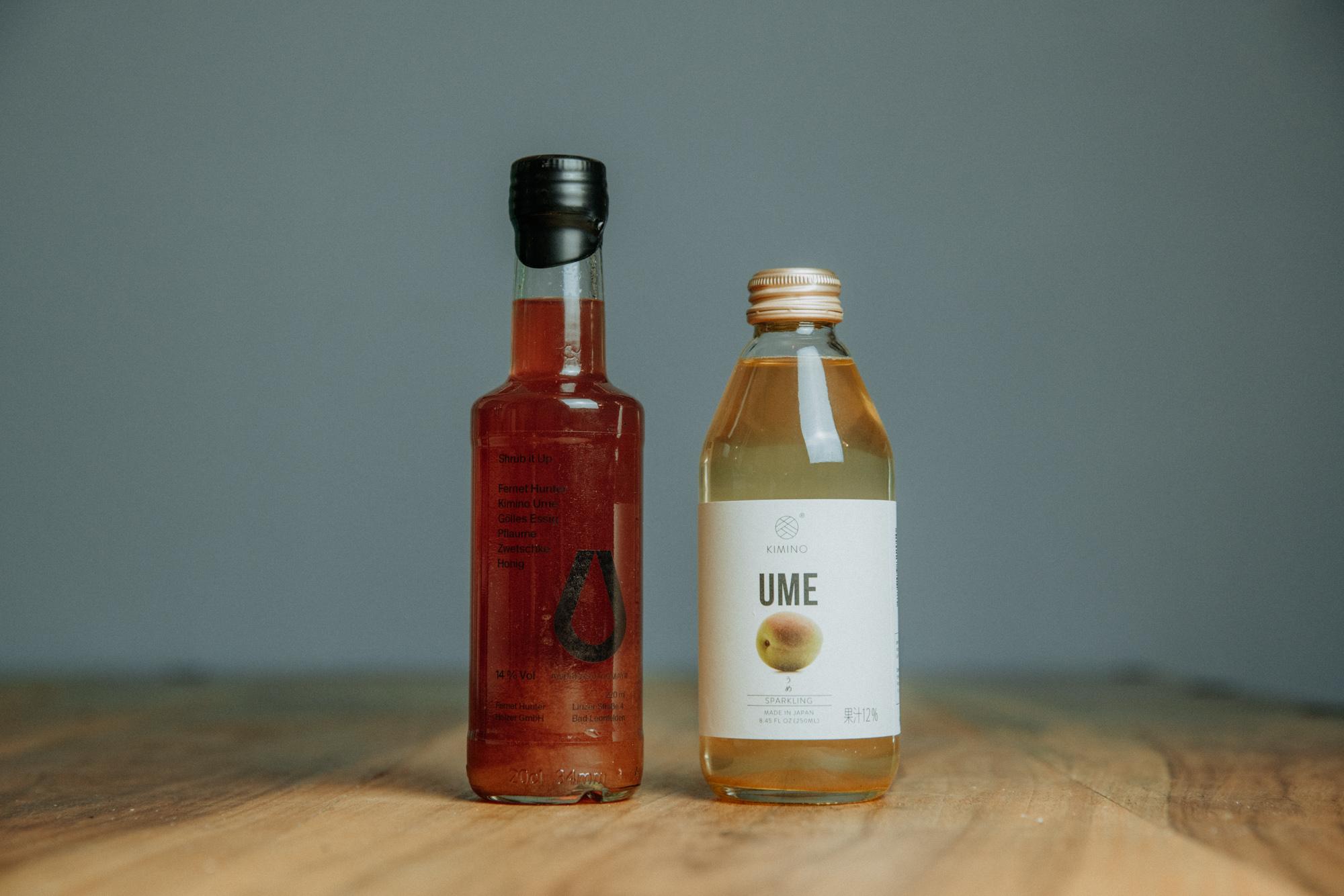 Andreas Lugmayr Bottled Cocktails Shrub it up Kimino Ume Abhohlen Lieferung Linz Österreich