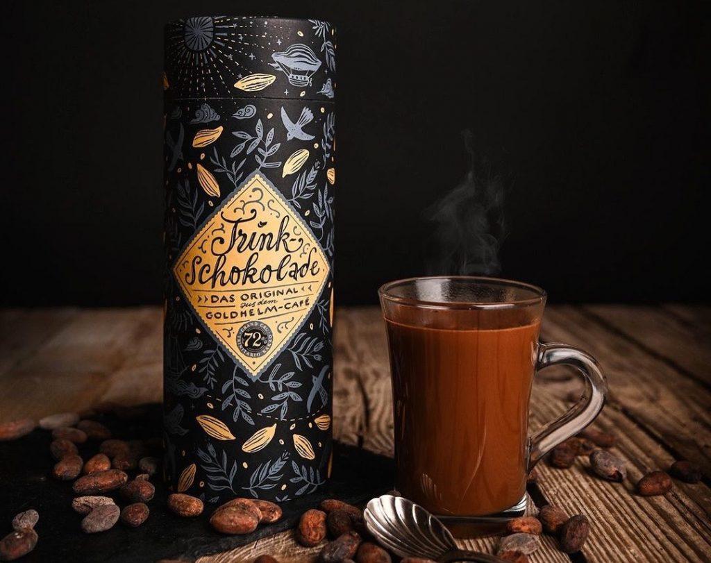 Goldhelm Schokolade Manufaktur Erfurt Thüringen Germany Hot Chocolate Trinkschokolade Winter Gift
