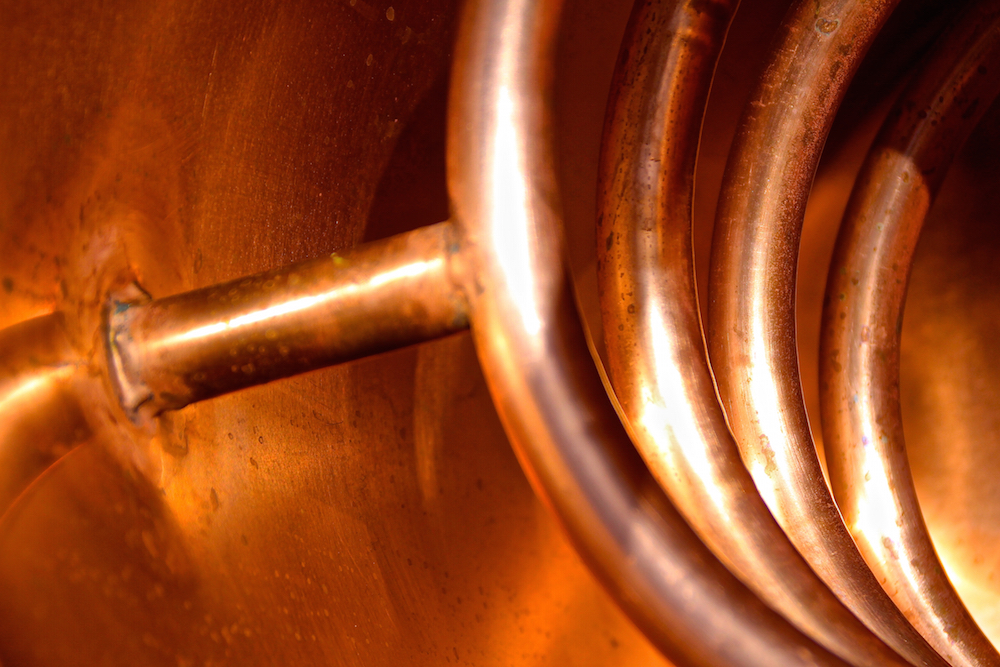 LAW Gin Ibiza Alembic Cooling Spiral Sustainable Production