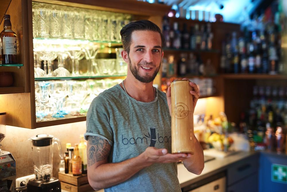 Mario Nestlehner Bambam Barware Bamboo Shaker
