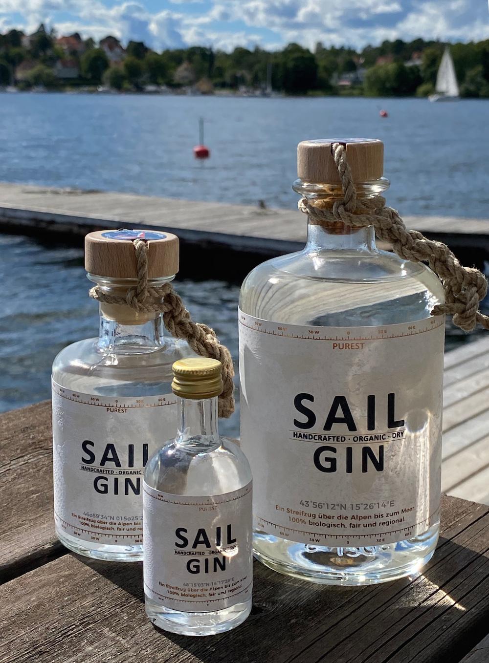 Purest Sail Gin Bottle Sizes Organic Craft Gin Austria