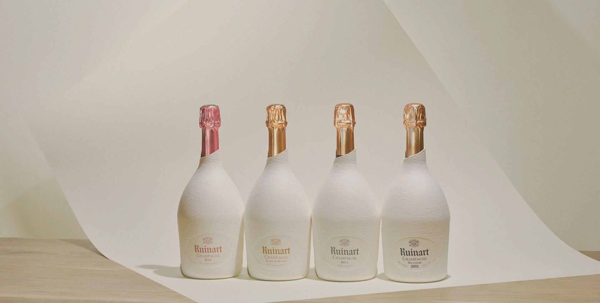 Ruinart Second Skin Champagne Blanc de Blancs Sustainable Packaging Range