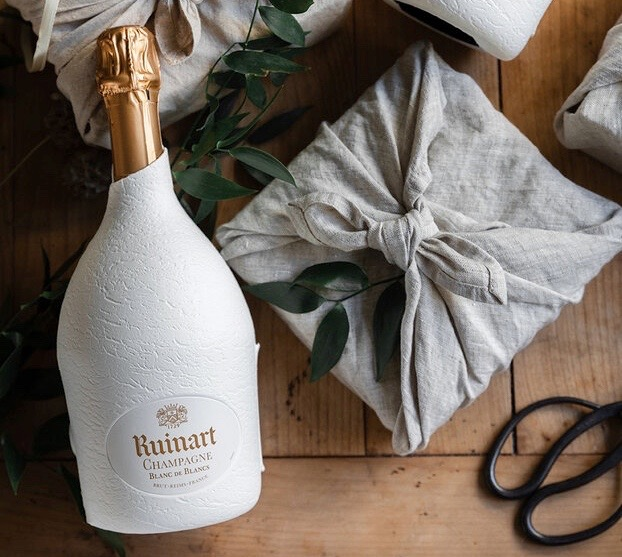 Ruinart Second Skin Champagne Blanc de Blancs Sustainable Packaging