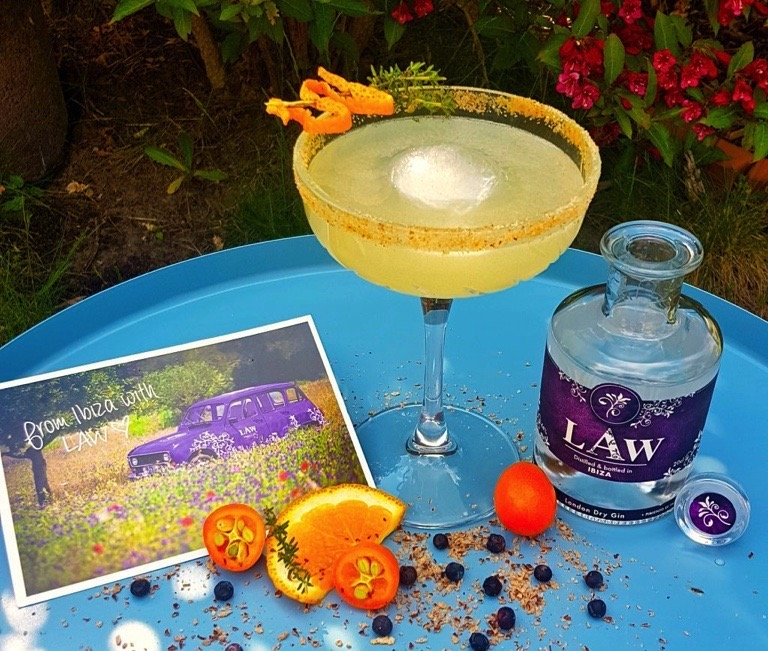 LAW Gin Cocktail LAWly Ibiza Thymes