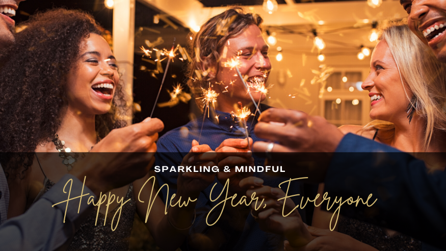 New Year Wishes January News Sparkling Drinks Mindful Start