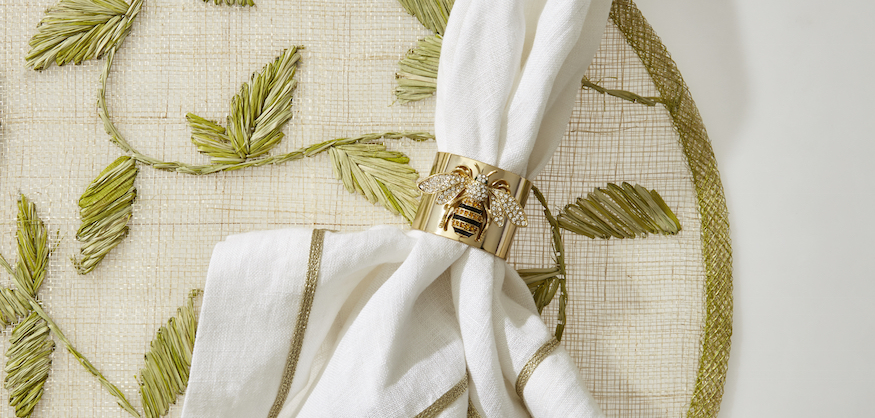 Joanna Buchanan Bee Ring Straw Leaf