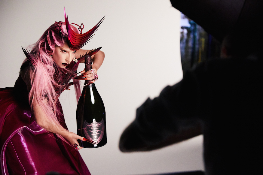 Dom Pérignon x Lady Gaga - Lady Gaga on set